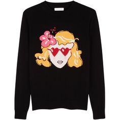 NEW Lolita Black Cashmere Sweater | Luxury Cashmere Sweaters | CHINTI... (27.325 RUB) ❤ liked on Polyvore featuring tops, sweaters, intarsia sweater, cashmere top, wool cashmere sweater, cashmere sweater and chinti and parker sweater