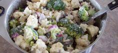 σαλατα με μπροκολο και κουνουπιδι Sprouts, Potato Salad, Cauliflower, Salads, Potatoes, Vegetables, Ethnic Recipes, Food, Cauliflowers