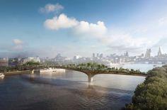 green bridge london, southbank london, thomas heatherwick green bridge, landscape architecture london, green design london, new london park,...
