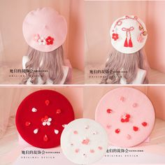 DIY Japanese Kawaii Sakura Lolita Mori Girl Princess Okonomiyaki Beret Sweet Moe | Clothing, Shoes & Accessories, Women's Accessories, Hats | eBay!