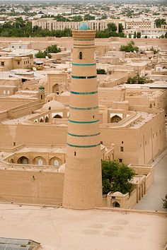 Djuma Mosque  Khiva, Uzbekistan http://reversehomesickness.com/asia/bukhara-khiva-samarkand/