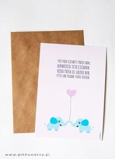 Norsukaverukset. Valentine's Day postcard. 4.20 €