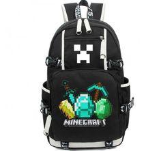 Minecraft Logo Backpack Schoolbag New Version