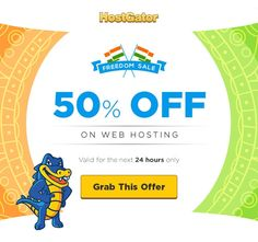 Hostgator India Independence Day Sale - Flat 50% Off Web Hosting Plans http://www.updatedreviews.in/hosting-coupon/hostgator-india Offer ends today act fast