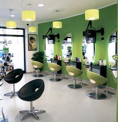 Salon Ambience - Olimpya Love the color! What would the cost be to create a ten station salon like this?