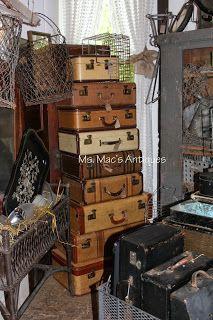Vintage Suitcases #vintage #antique #suitcases #antiquestore #Minnesota #msmacsantiques