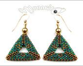 Emerald Triangulation earrings