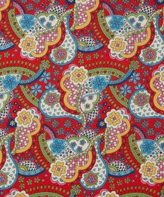 Sew Modern : Liberty Lifestyle - Bloomsbury Gardens - Red Virginia -