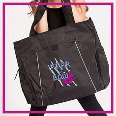 Fear the Bow Bling Tote Bag with Rhinestone Logo
