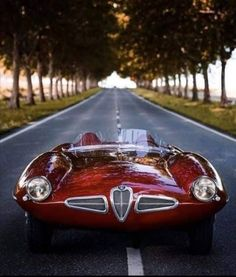The Alfa Romeo Superflow Disco Volante coupe (Flying Saucer). Classic Sports Cars, Classic Cars, Austin Martin, Alfa Romeo Cars, Cabriolet, Top Cars, Unique Cars, Armored Vehicles, Armored Car