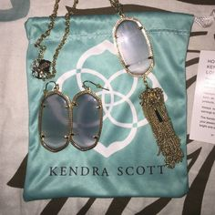 Kendra Scott Set This beautiful matching set of Danielle Kendra Scott earrings and necklace is versatile and can be worn with literally anything Kendra Scott Accessories