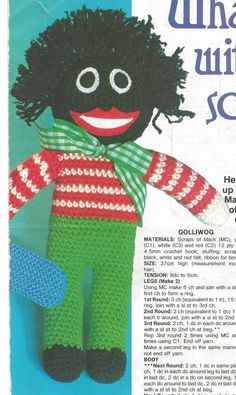 10 VINTAGE GOLLY/GOLLIWOG KNITTING PATTERNS ON CD CRAFTS ...