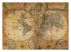 Art Print: Vintage Map : 22x30in