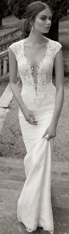 Low V Neck Lace Dress