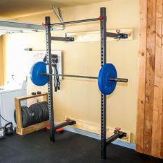 What You Need To Know About the Retractable Power Rack The Retractable Power Rack makes a good addition to any home/garage gym. The rack retracts for easy storage and includes a pull up bar and squat