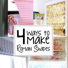 4 ways to make roman shades
