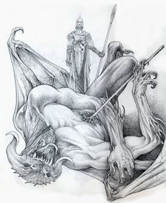 Ecthelion and Gothmog sketch by DanielGovar Watch Report Traditional Art / Drawings / Fantasy Glorfindel, Morgoth, Lotr Swords, History Of Middle Earth, Character Sketches, Jrr Tolkien, Fantasy Rpg, Illustrations, Pin Up Art