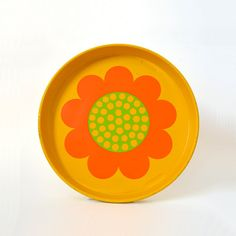 RESERVED Mod Metal Flower Tray by Laurids Lonborg. $30.00, via Etsy.