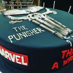 The Punisher cake.