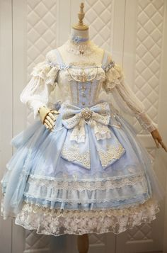 The Nine Songs -The Butterfly Princess- Gorgeous Vintage Classic Lolita Jumper Dress