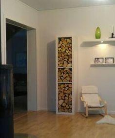 23 Ideas wood storage ideas firewood rack living rooms for 2019 Ikea Storage Cubes, Ikea Cubes, Storage Ideas, Indoor Firewood Rack, Firewood Storage, Recycled Trampoline, Range Buche, Home Fireplace, Rustic Kitchen