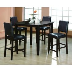 Crown Mark Derick 5Pc Counter Height Table Set