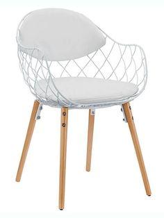 White Wire Net Chair | Modern Furniture • Brickell Collection