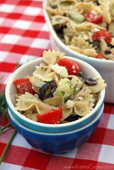 Greek Pasta Salad - Katie's Cucina | Katie's Cucina