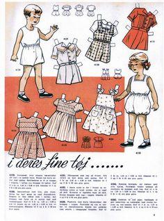 Danish paper dolls of Read Bornene #2 / dukkesiderne.dk