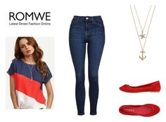 """""""Romwe"""" by realitybytes85 ❤ liked on Polyvore featuring Topshop and CAFèNOIR"""