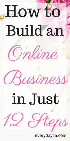 Don't you wish you could just quit that 9-5 you absolutely HATE and start your own successful online business? Are you a blogger who wants to turn their blog into an online business? Me too! I was tired of working to make SOMEONE ELSE'S dream come true. It was time for me to have my own online business and work from home so I could be a stay at home mom. You can do it too! All you have to do is follow these 12 easy steps to start building your own online business.