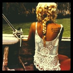 i love shoulder blade tattoos. But not until after I'm married. No visible tattoos in a wedding dress.