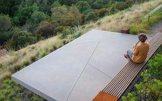 Sloping garden terrace, modern garden design, landscaping
