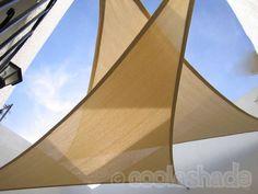 3.6m Triangle Shade Sails x 2, Colour Desert Sand