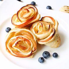Elegante Apfel-Blätterteig-Rosen – Apple Puff Pastry Roses