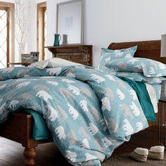 Deep Snow Flannel Bedding