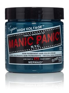Buy it here: http://www.manicpanic.com/high-voltage-cream-formula-hair-color With #hair this #good, you'll be singing 'Under the Sea' with Sebastian the crab! More #Blue than #SirensSong, but lighter than #AtomicTurquoise , #Mermaid will surely please everyone under the ocean (and above).