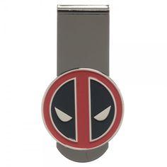 Marvel Comics Deadpool Mask Metal Money Clip Wallet Licensed #Marvel