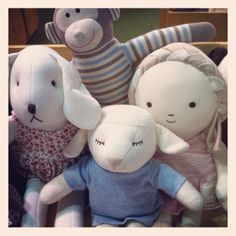 Hanz friends, Baby's 1st soft dolls.   Designed by Hanz, using organic fabric.