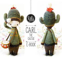 CARL the cactus - lalylala amigurumi crochet PATTERN - ebook