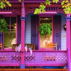 A cheery front porch.