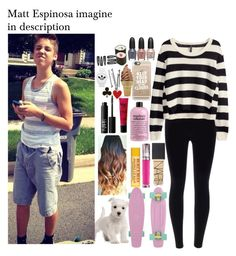"""Imagine in description ^-^"" by applejice221 ❤ liked on Polyvore featuring H&M, NARS Cosmetics, Urban Decay, philosophy, Casetify, BOBBY, Alison Lou and adidas"
