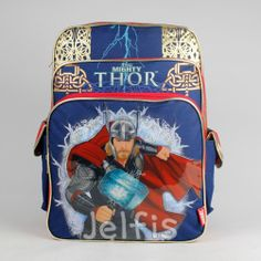 Jelfis.com - Marvel The Mighty Thor Large Backpack - Gold Design 16' Boys School Book Bag, $17.99 (http://www.jelfis.com/marvel-the-mighty-thor-large-backpack-gold-design-16-boys-school-book-bag/)