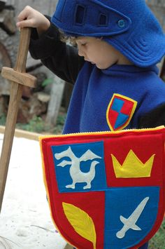 Mike The Knight Inspired Shield - Halloween Costume - Halloween Costume - Kid Costume. $45.00, via Etsy.