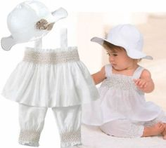 3pcs Baby Girl Kid Ruffle Top Pants Hat Set Outfit Clothes Costume 0 24M   eBay
