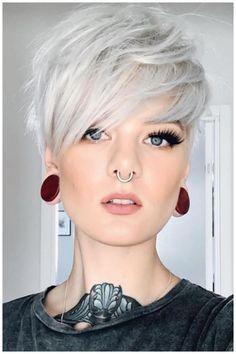 Short Textured Hair, Short Grey Hair, Short Blonde, Short Hair Cuts For Women, Short Hairstyles For Women, Blonde Hair, Amazing Hairstyles, Blonde Pixie, Elegant Hairstyles