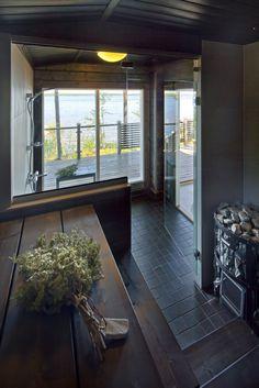 Sauna with a view. Honka log homes.