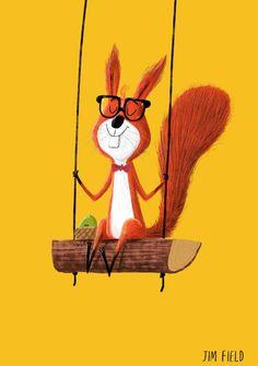 Jim Field. A children's book illustrator. His website: http://www.jimfield.co.uk/