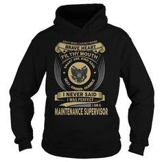MAINTENANCE SUPERVISOR T Shirts, Hoodies. Check price ==► https://www.sunfrog.com/LifeStyle/MAINTENANCE-SUPERVISOR-119285681-Black-Hoodie.html?41382