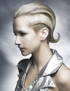 Wella Professional, 2012 Trend, Darla Glover, futuristic look, hairstyle, future fashion, silver, strange, unique, beautiful, amazing, hair by FuturisticNews.com
